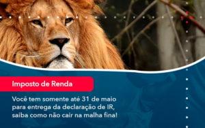 Voce Tem Somente Ate 31 De Maio Para Entrega Da Declaracao De Ir Saiba Como Nao Cair Na Malha Fina 1 - FIDUCIA Contabilidade | Assessoria e Consultoria no Rio de Janeiro