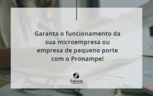 Pronampe Essa é A Chance De Fortalecer A Sua Microempresa Ou Empresa De Pequeno Porte Na Pandemia! Fiducia - FIDUCIA Contabilidade | Assessoria e Consultoria no Rio de Janeiro
